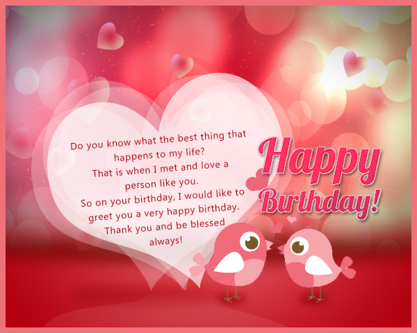 Romantic Birthday Wishes 365greetings – Romantic Birthday Card