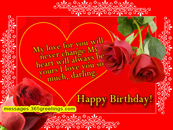 Romantic Birthday Wishes Messages Greetings and Wishes – Birthday Greetings to a Lover