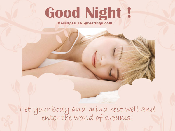 Sweet Good Night Messages 365greetings Com
