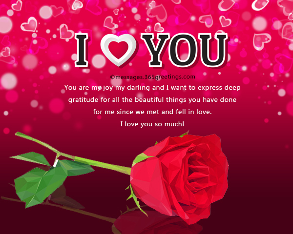 Sweet love message for her