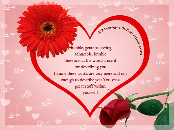 Romantic Messages For Him 365greetings – Great Valentines Day Card Messages
