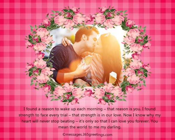 Romantic messages for wife 365greetings i found a reason to wake up each morning that reason is you i found strength to face every trial that strength is in our love m4hsunfo