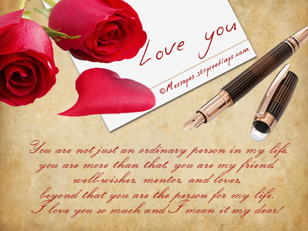 Romantic i love you messages for him