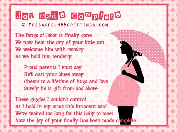 Free Sweet Baby Shower Poems 365greetingscom