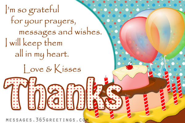 Birthday Thank You Messages Thank You for Birthday Wishes – Thank You for the Birthday Card
