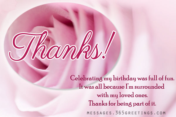 thank you message for birthday wishes