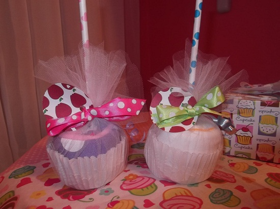 candy apples for baby shower