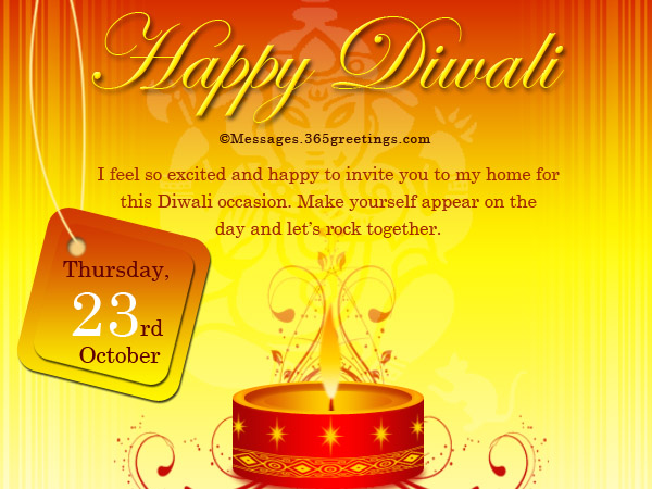 Diwali invitations and wordings 365greetings diwali invitation cards for party stopboris Choice Image