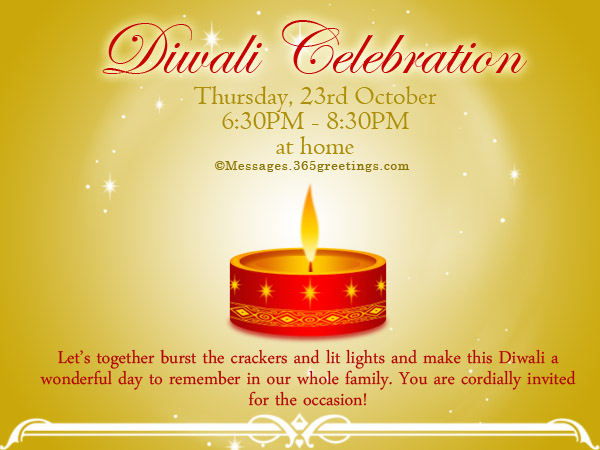 diwali invitation messages for diwali invitation cards diwali invitation wordings 365greetings com,Raksha Bandhan Invitation Messages