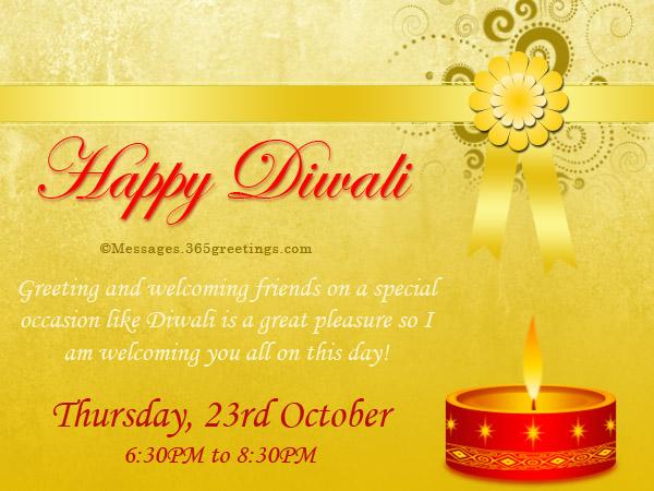 Diwali invitations and wordings 365greetings diwali invitation messages wordings stopboris Gallery
