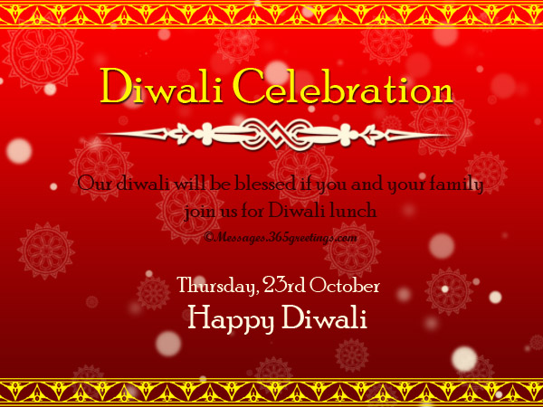 Diwali invitations and wordings 365greetings diwali invitation messages stopboris Choice Image