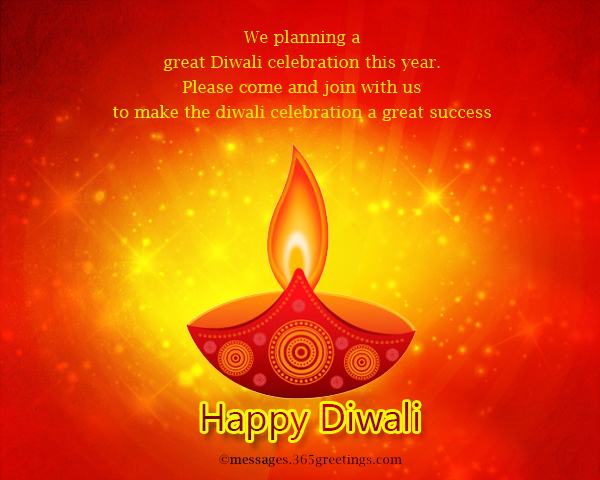 Diwali invitations and wordings 365greetings we planning a great diwali celebration this year please come and join with us to make the diwali celebration a great success stopboris Image collections