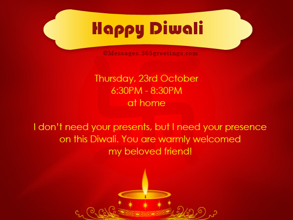 Diwali Invitations And Wordings 365greetings Com