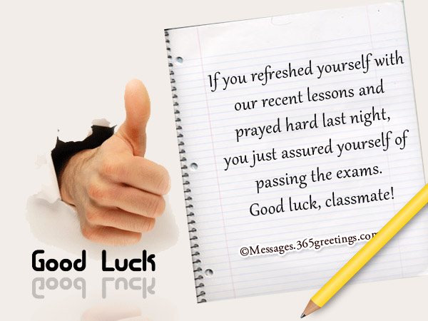 Good luck messages for exam 365greetings good luck wishes for exam m4hsunfo