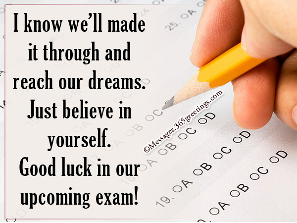 Good Luck Messages For Exam 365greetings Com