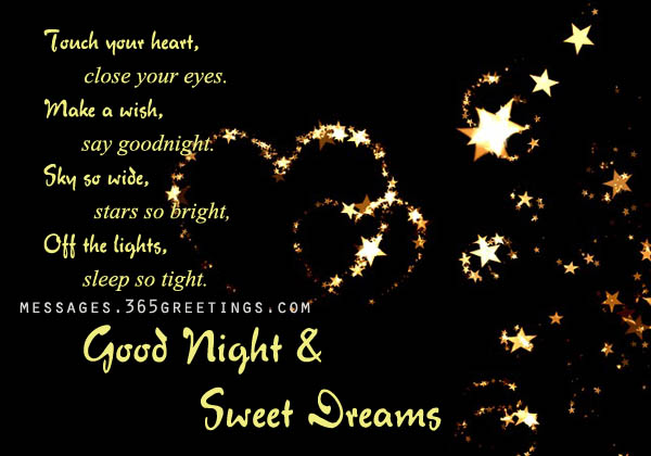Good Night And Sweet Dreams 365greetingscom