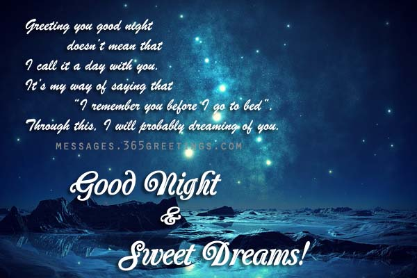Delicieux Good Night Greeting Card