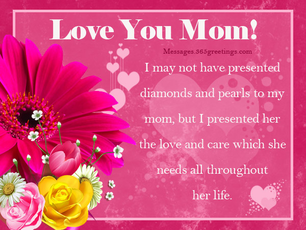 I Love You Mom Messages - 365greetings com