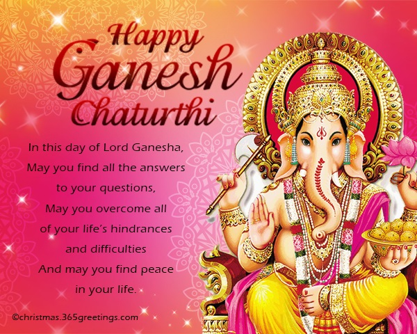 Messages For Ganesh Chaturthi Festival 365greetings Com
