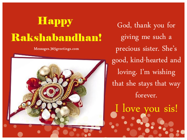 rakhi wishes for sister1 raksha bandhan messages 365greetings com,Raksha Bandhan Invitation Messages