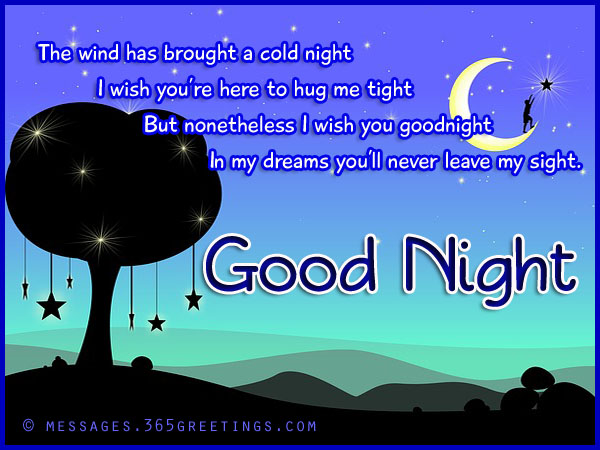romantic good night messages wishes