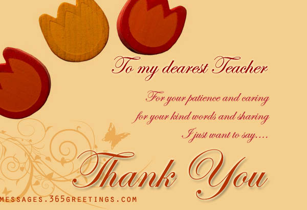 Thank You Messages For Teachers - 365Greetings.Com