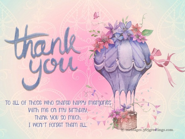 Thank You Messages For Birthday Wishes On Facebook