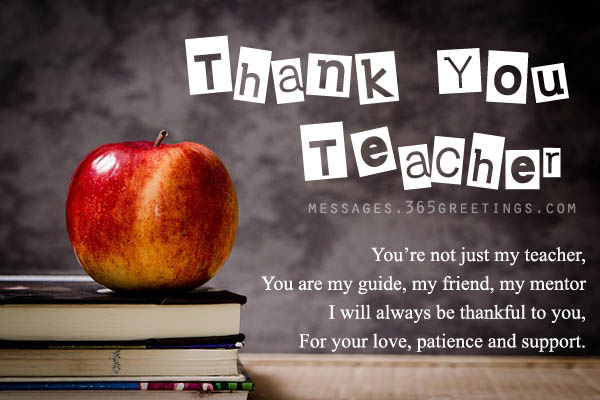 Thank You Teacher Quotes Adorable Thank You Messages For Teachers  365Greetings