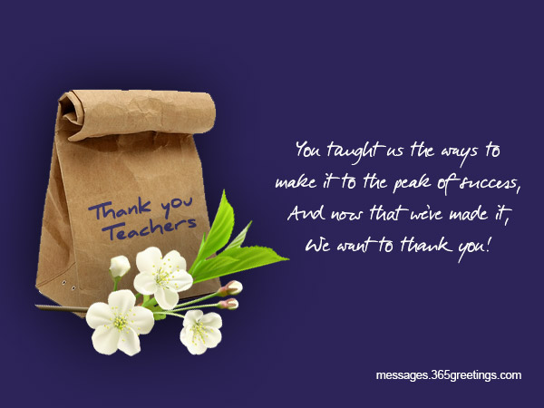 Thank you messages for teachers 365greetings thank you messages for teachers m4hsunfo