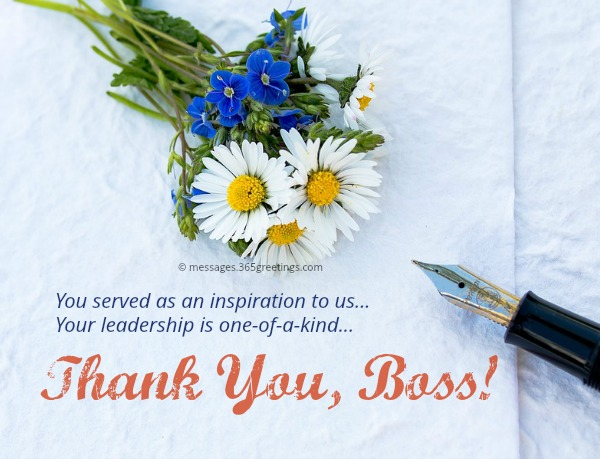 Thank You Messages For Boss  GreetingsCom