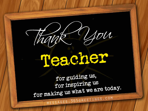 Thank You Teacher Quotes Amazing Thank You Messages For Teachers  365Greetings