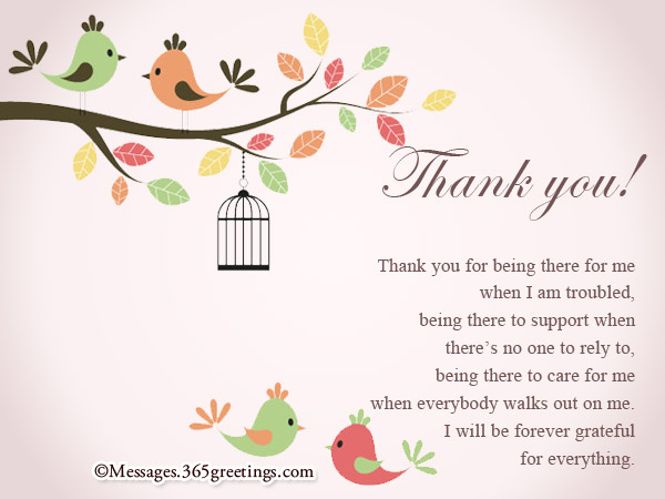 Wonderful Messages For Thank You Cards
