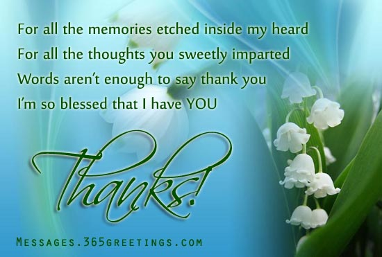 Words of Thanks to a Friend