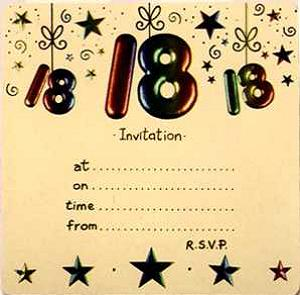 18th Birthday Invitations