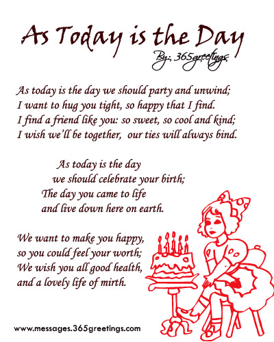 Birthday Poems For Friends 365greetingscom