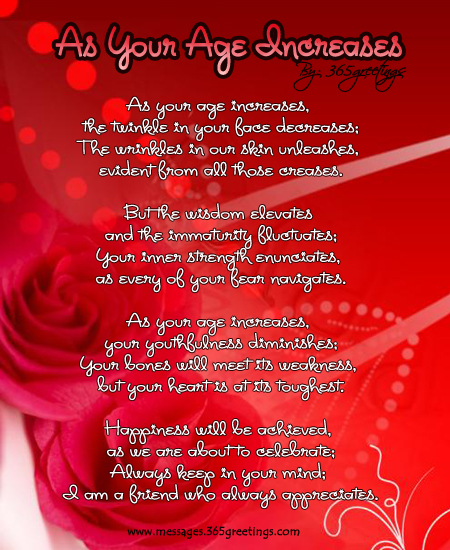 Birthday Poems 365greetingscom