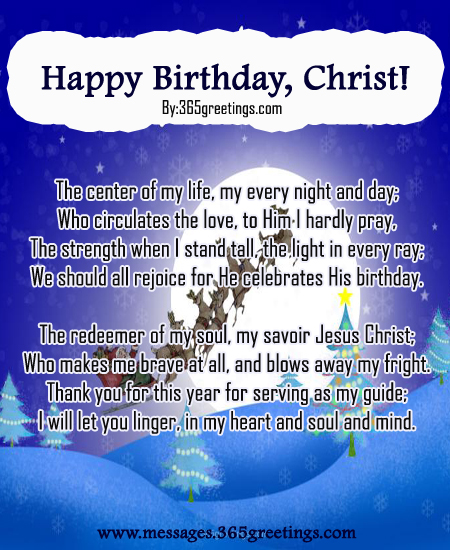 happy birthday christ christmas poem