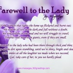 Farewell to the Lady