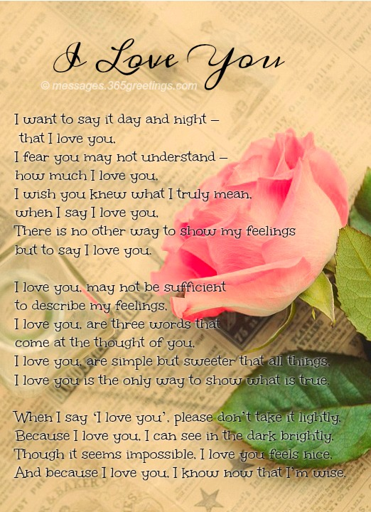 Love Poems For Him With Image 365greetings Com