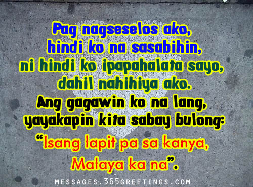 Tagalog Quotes Interesting Tagalog Love Quotes For Her  365Greetings