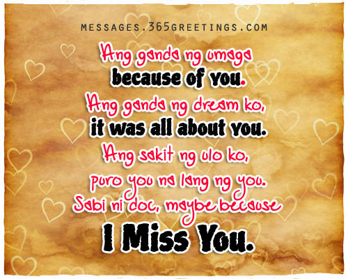 Missing You Love Quotes For Her Endearing Tagalog Love Quotes For Her  365Greetings