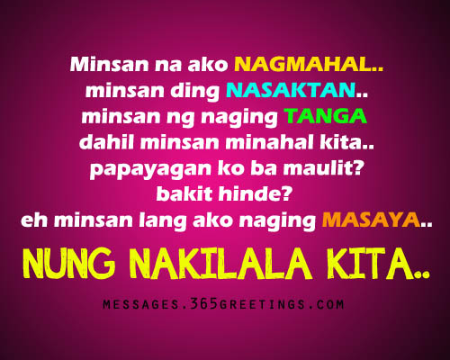 Goodbye High School Quotes Tagalog: Sad Tagalog Love Quotes
