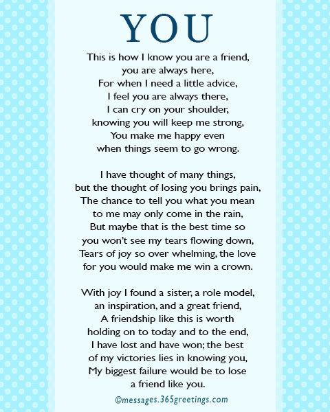 Friendship Poems 365greetingscom