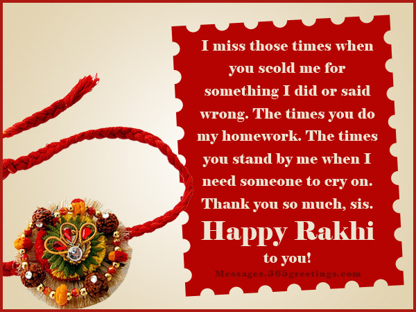 Raksha bandhan messages 365greetings rakhi messages for sister m4hsunfo