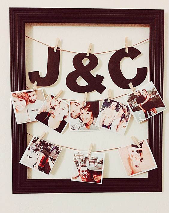 if you love diy this handmade christmas gift for boyfriend will certainly impress the more romantic of guys you can choose your best couple photos to form