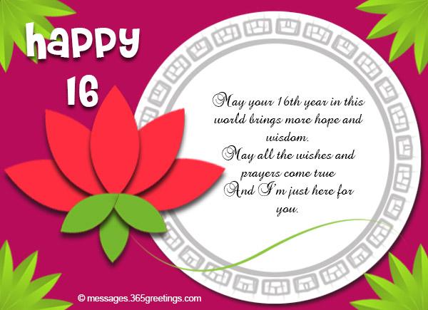 16th Birthday Wishes - 365greetings com