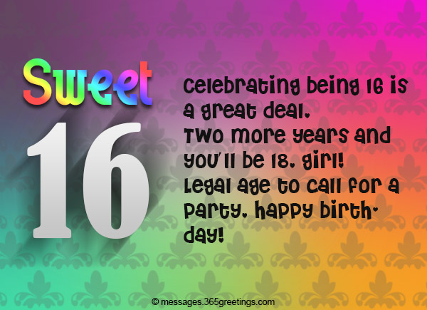 16th Birthday Wishes 365greetings