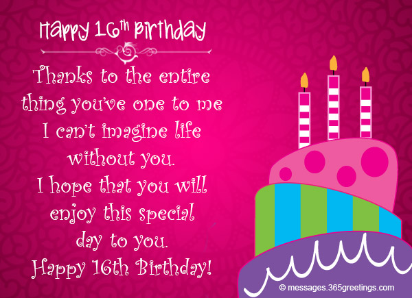 16th Birthday Wishes 365greetings Com Happy Sixteenth Birthday Wishes