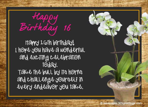 16th Birthday Wishes For Daughter