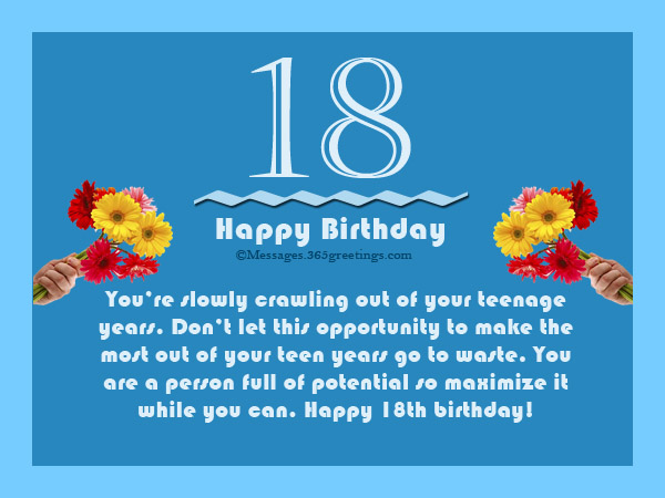 18th Birthday Wishes, Messages and Greetings ...